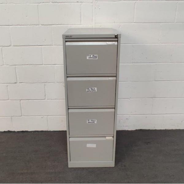 Bisley silver filing cabinet- 4 drawer