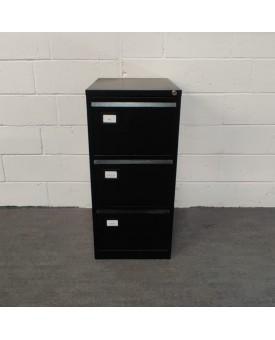 Black filing cabinet- 3 drawer
