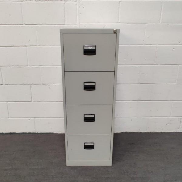 Grey filing cabinet- 4 drawer