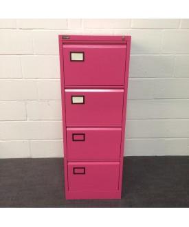 Pink 4 drawer filing cabinet