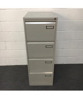 Silver filing cabinet- 4 drawer