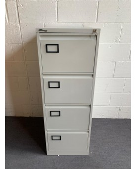 Connections silver filing cabinet- 4 drawer