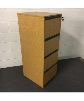 Oak Filing Cabinet- 4 Drawer