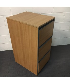 Oak Filing Cabinet- 3 Drawer
