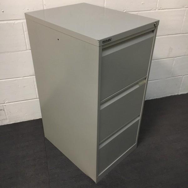 Bisley grey filing cabinet- 3 drawer