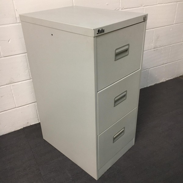 Silverline grey filing cabinet- 3 drawer