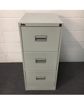 Silverline grey filing cabinet- 3 drawer