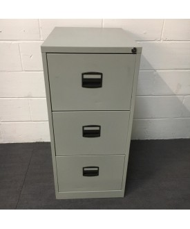 Grey filing cabinet- 3 drawer