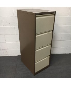 Brown Bisley Filing Cabinet- 4 Drawer