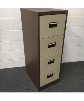 Brown Silverline Filing Cabinet- 4 Drawer
