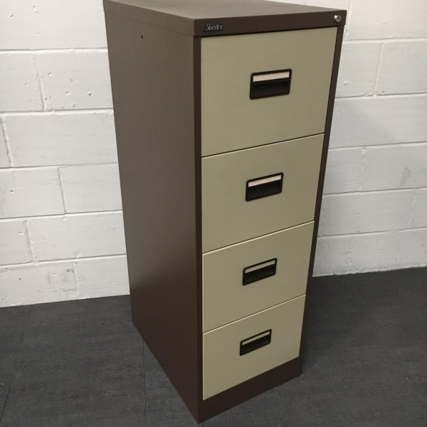 Brown Silverline Filing Cabinet- 4 Drawer