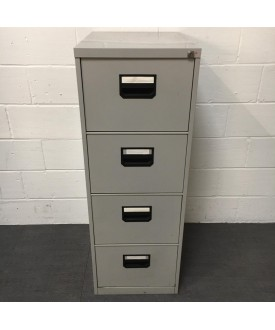 Grey filing cabinet- 4 drawer