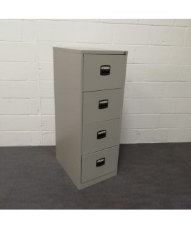 Silver 4 drawer filing cabinet
