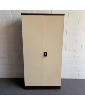 Metal coffee/cream tall cupboard