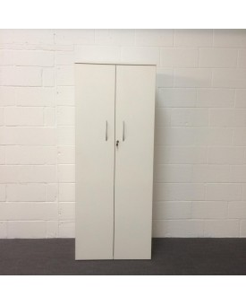 White five shelf cupboard