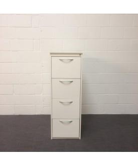 White 4 drawer filing cabinet