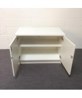 White one shelf cupboard