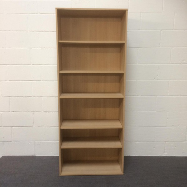 Light oak 5 shelf bookcase