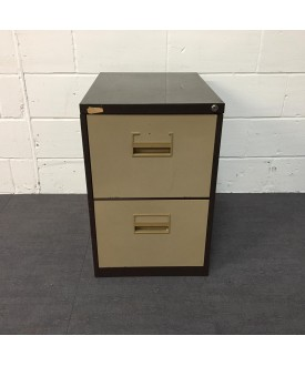 Coffee and Cream Filing Cabinet- 2 Drawer