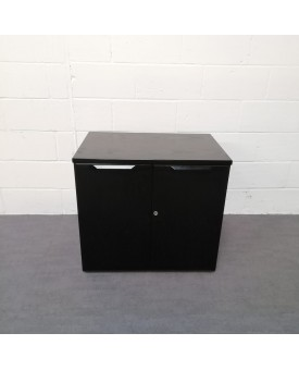 Black one shelf wooden cupboard