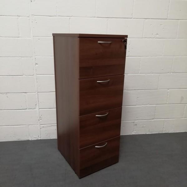 Walnut 4 drawer filing cabinet