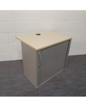 Maple topped tambour unit