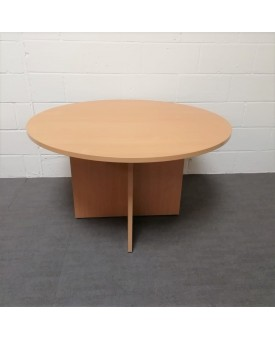 Circular 1200 beech meeting table