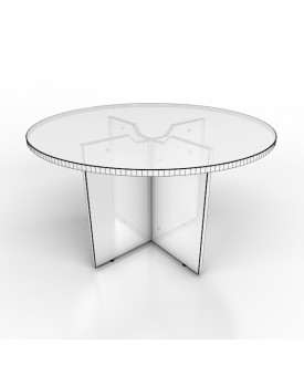 Circular meeting table - 1200mm x 1200mm - White