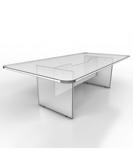 Large meeting table - 2400mm x 1200mm - White