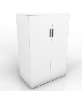 2 door Office Cupboard - 1200mm- White