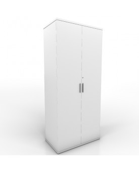 2 door Office Cupboard - 1800mm- White
