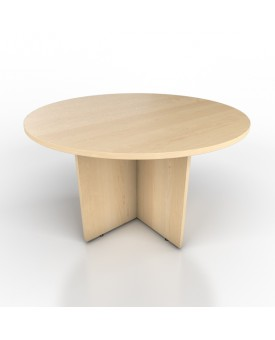 Circular meeting table - 1200mm x 1200mm - Maple
