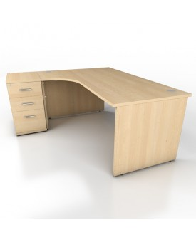 Corner desk - 1800mm x 1200mm - Maple (Left Hand)