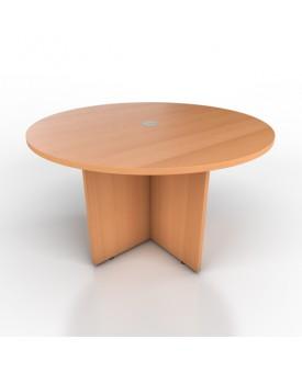 Circular meeting table - 1200mm x 1200mm - Beech