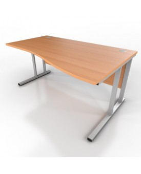 Wave desk-1600mm x 1000mm-Beech (Right Hand)