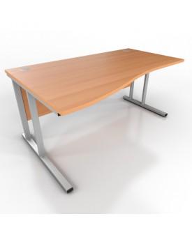 Wave desk -1600mm x 1000mm-Beech (Left Hand)
