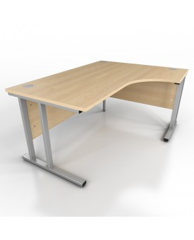 Corner desk - 1600mm x 1200mm - Maple (Right Hand)