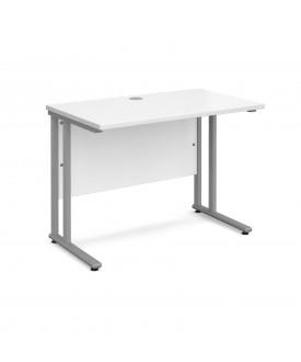 Straight economy desk - 1000mm x 600mm - White