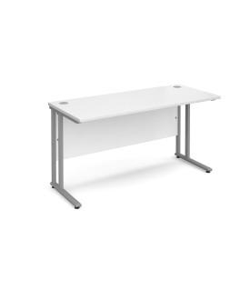 Straight economy desk - 1400mm x 600mm - White