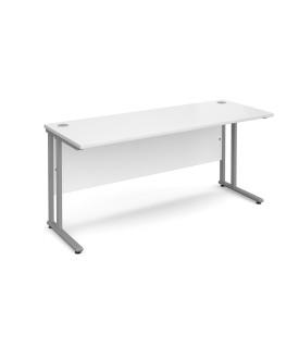 Straight economy desk - 1600mm x 600mm - White