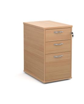 3 drawer 600 economy desk high pedestal - Beech