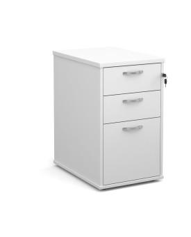 3 drawer economy 600 desk high pedestal - White