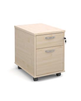 2 drawer economy mobile pedestal - Maple