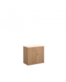 2 door desk high economy cupboard - Beech