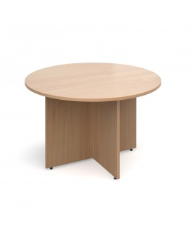Circular economy meeting table - 1200mm - Beech