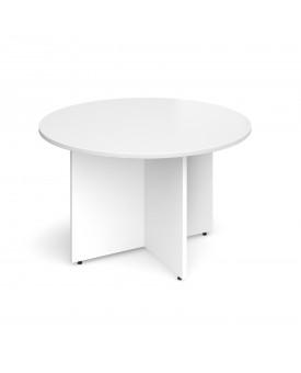 Circular economy meeting table - 1200mm - White