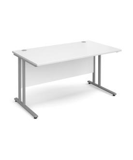Straight economy desk - 1400mm x 800mm - White