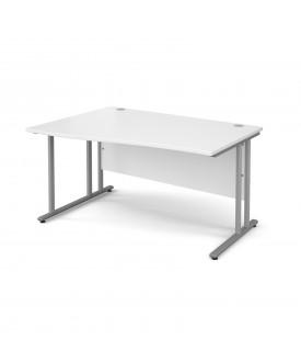 Wave economy desk - 1400mm x 800mm - White LH