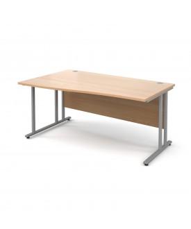 Wave economy desk - 1600mm x 800mm - Beech LH