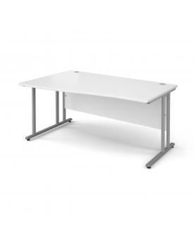 Wave economy desk - 1600mm x 800mm - White LH